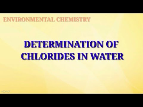 Determination Of Chloride Ion In A Given Water Sample || Water Analysis || Environmental Chemistry