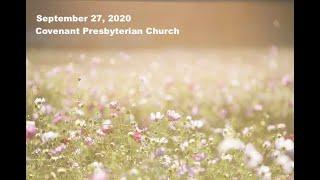 September 27, 2020 - Sunday Worship