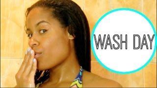 Relaxed Hair Wash Day Routine | 4 Months Post Relaxer