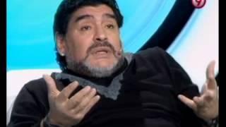 TVR - Maradona le hizo la cruz a Houseman y recordó a Sandro 21-07-12