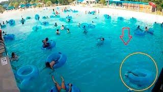كانو يستمتعون بالاستحمام في حوض السباحة لكن لم يلاحظو الكارثة التي حولهم