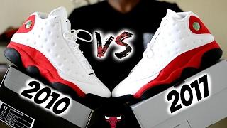 "2010 vs. 2017 Jordan 13 ""Cherry"" ""Chicago Bulls"" Comparison and a look at all Original ""OG"" Colors."