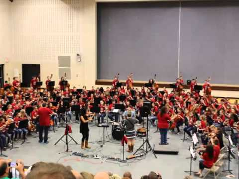 The Moxie Strings at Center Grove Middle School North Performing with Students May 2015