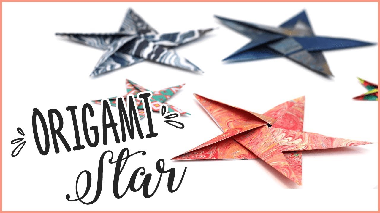 How To Make Origami Stars - Detailed Instructions Origami Star Diagram on