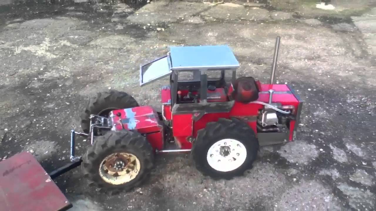 Small Homemade Tractors : Homemade tractor update youtube