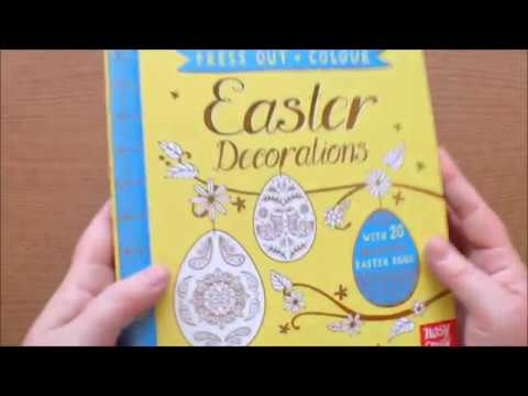 Press out and Colour Easter Decorations by Kate McLelland Colouring Book Flip through