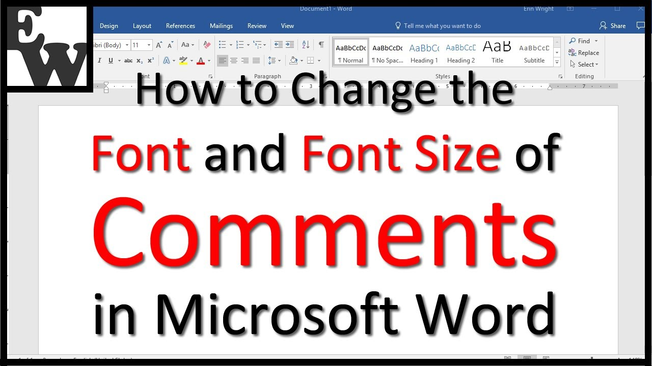 How to Change the Font and Font Size of Comments in Microsoft Word