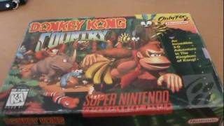 Donkey Kong Country SNES Unboxing