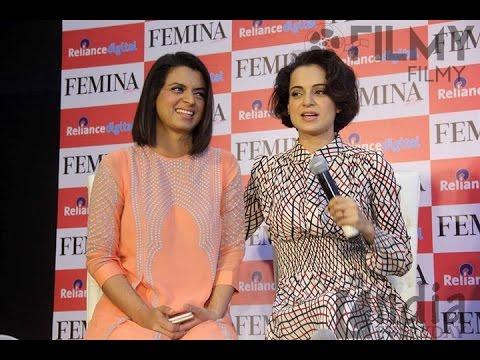Kangna Ranaut & Rangoli  Launch Femina Magzine