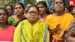 High Drama At Sabarimala, 2 Women Forced To Return   #Sabarimala