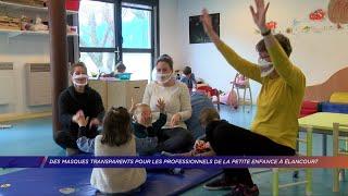 Yvelines | Des masques transparents pour les professionnels de la petite enfance à Élancourt