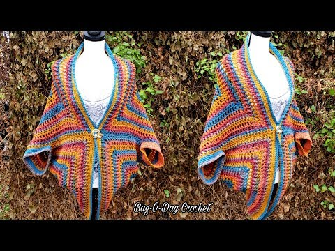How To Crochet A Cocoon Cardigan | The Cardi of Many Colors | BAG O DAY CROCHET TUTORIAL #545