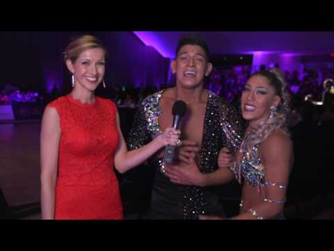 Backstage interview with Ricardo Vega and Karen Forcano