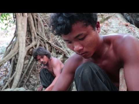 Relaxation house on the hilltop to see sunset | Primitive Technology , Building Skill