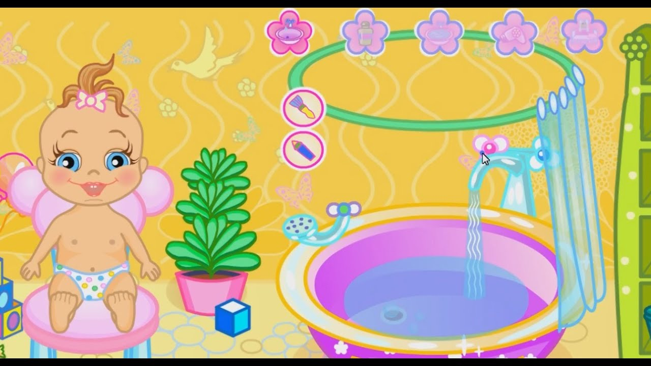 Baby Shower Games HD   Baby Bathing And Go Sleep   Video For Babies U0026 Kids