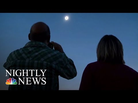 Eclipse Enthusiasts Celebrate In Madras, Oregon   NBC Nightly News