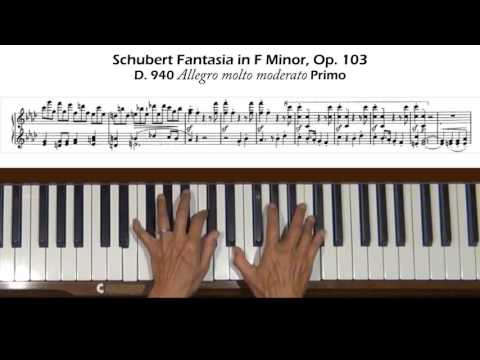 Schubert Fantasia in F Minor Op.103,  D.940 Allegro molto moderato Primo Tutorial
