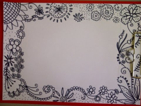 Цветочный фантазийный узор. Рисуем, мастерим поздравительные открытки на день рождения