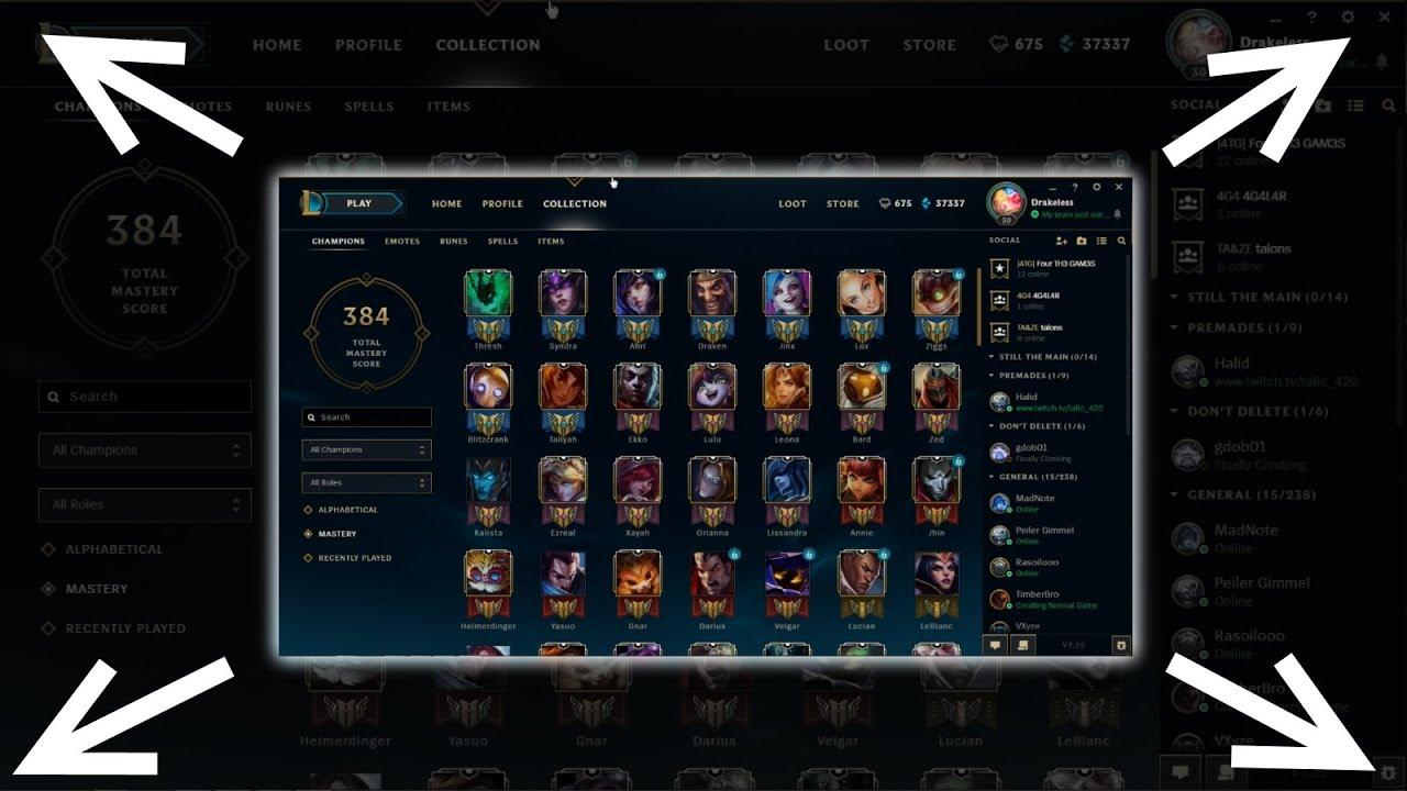 make new client fullscreen league of legends youtube make new client fullscreen league of legends