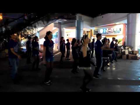 Bao'an Stadium flash dance, Shenzhen