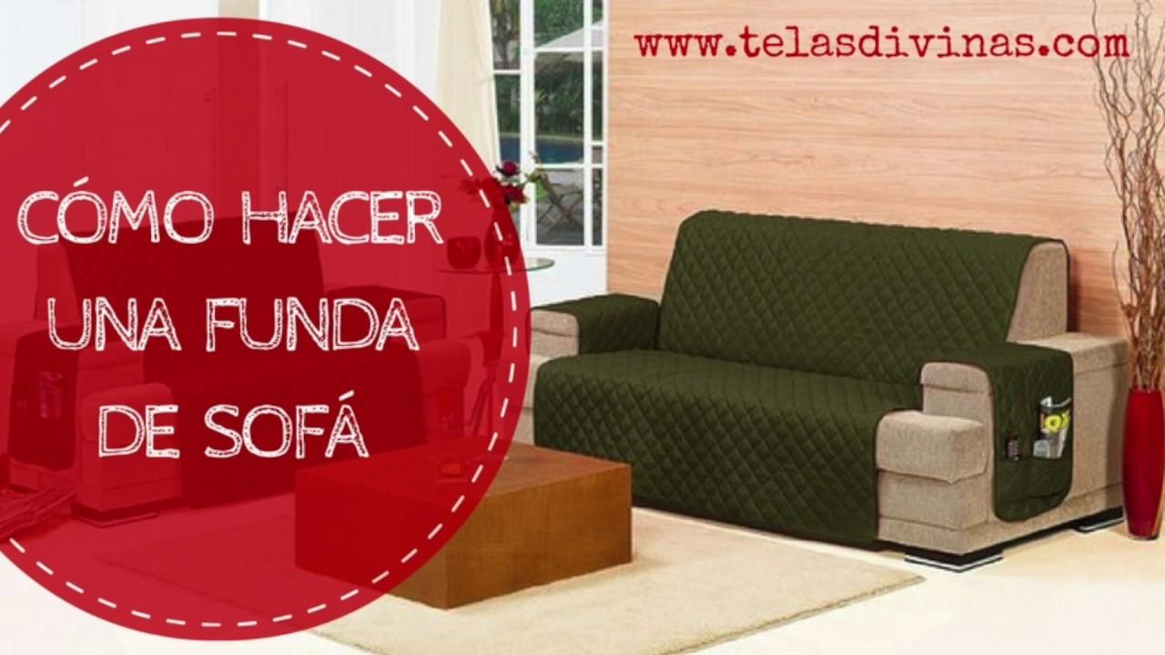 C mo hacer una funda de sof youtube - Fundas elasticas para sofa ...