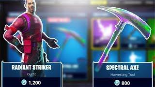 *NEW* SKINS! | Radiant Striker & Spectral Axe | Fortnite On iOS Invites? | Fortnite BR PS4