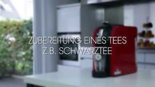 TEEKANNE TEALOUNGE System: Zubereitung eines Tees z.B. Schwarztee