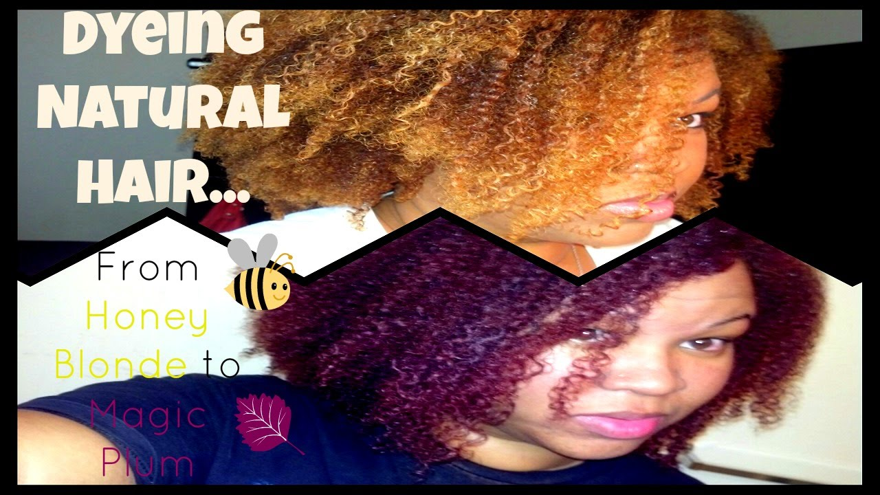 Dyeing Natural Hair From Blonde To Purple Dark N Lovely Magic Plum