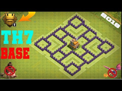 Clash Of Clans Th7 Farming Base Best Town Hall 7 Defense With 3x Air Defenses 2018 Youtube