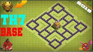 CLASH OF CLANS - TH7 FARMING BASE | BEST TOWN HALL 7 DEFENSE WITH 3x AIR DEFENSES - 2018