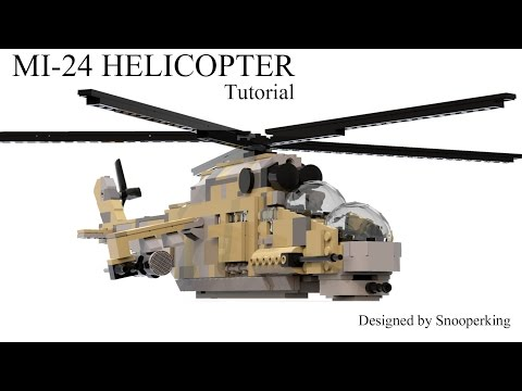Lego Mi-24 HIND Russian Helicopter Model Kit Instructions