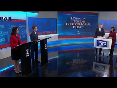 Michigan gubernatorial candidates square off in final debate at WDIV studios in Detroit