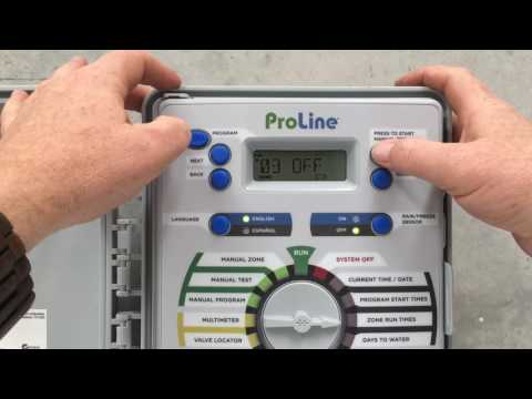 Programming the Weathermatic ProLine Controller
