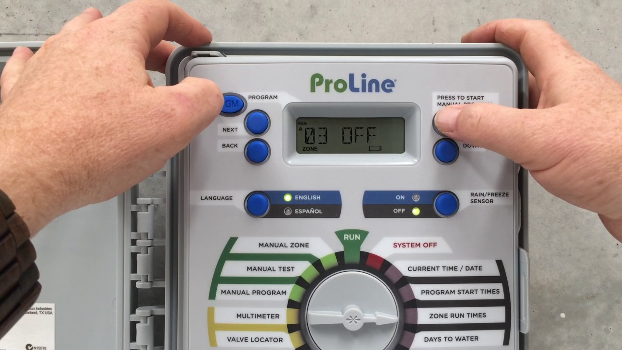 Programming the Weathermatic ProLine Controller on