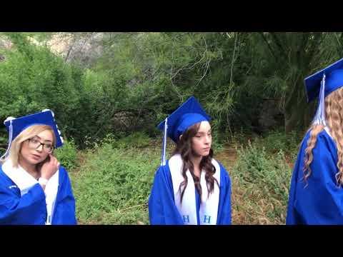 Alessandro High School Graduation in the Ramona Bowl chute 2019
