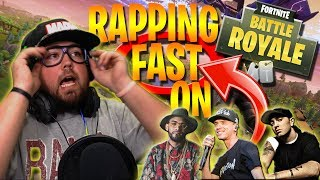 Rapping *FAST* to STRANGERS on Fortnite Battle Royale