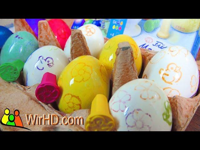 Ostereier Stempel, Eier Färben, Coloring Easter Eggs, Ostern 2016, Osterstempel, Stempel