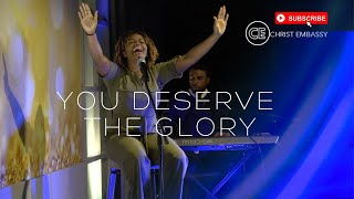 """Christ Embassy Moments of Worship with Jennel, singing """"You Deserve the Glory"""""""