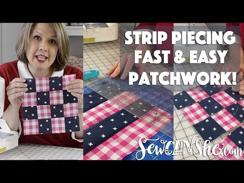 Sewing Patchwork Blocks With Strip Piecing