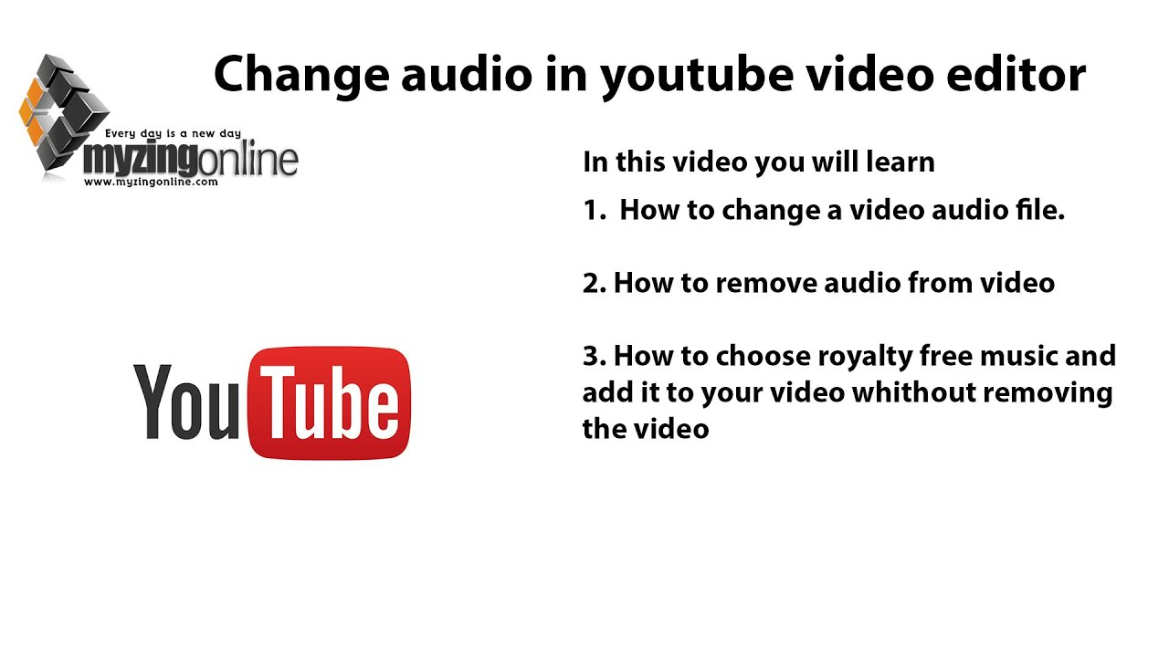 How to change audio in youtube video editor (2019)