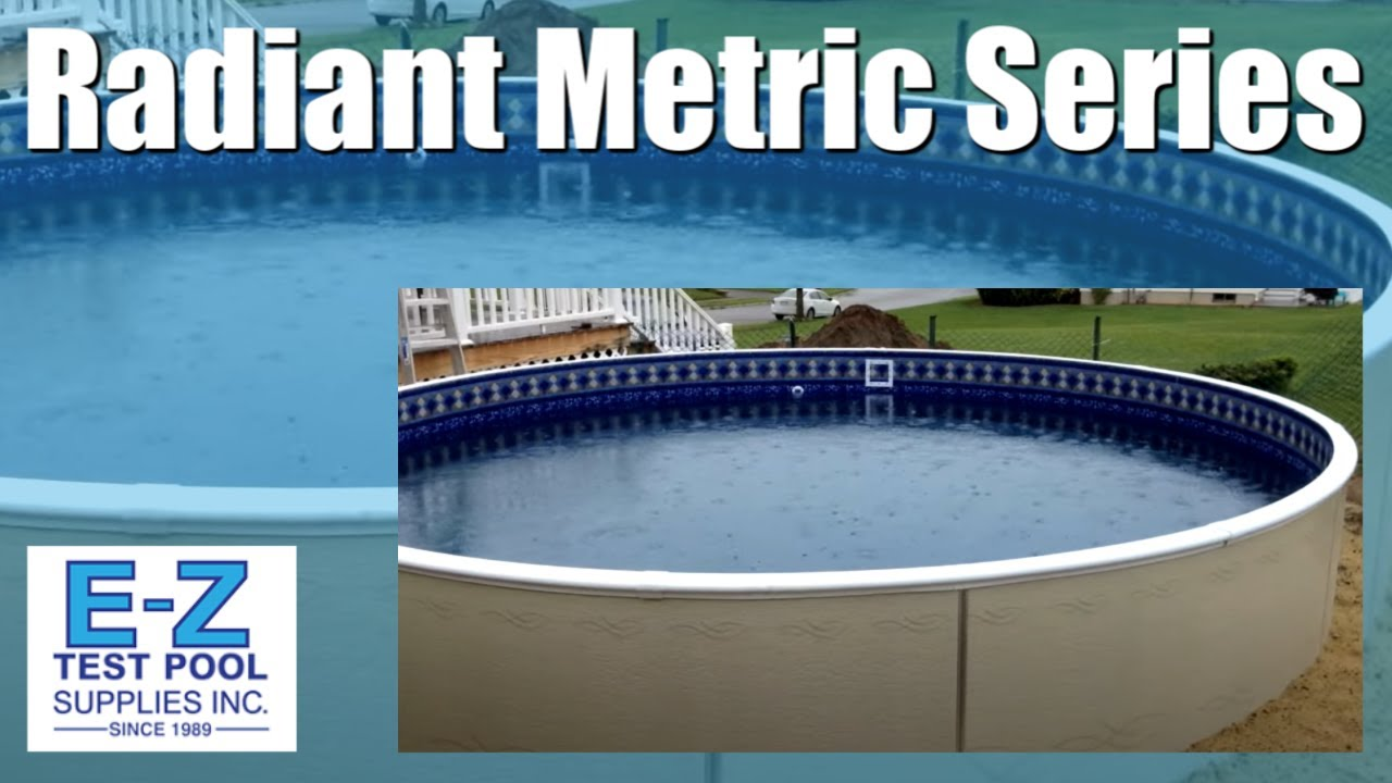 Radiant metric series 24ft round above ground swimming pool youtube for How many meters is a swimming pool