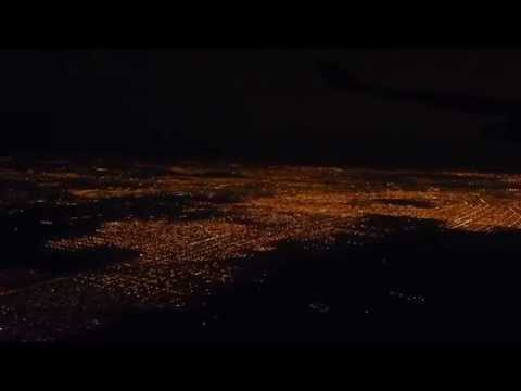 Landing in Buenos Aires at Night - Aterrizaje nocturno en Buenos Aires