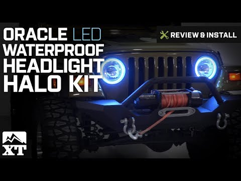 Jeep Wrangler Oracle LED Waterproof Headlight Halo Kit (1997-2006 TJ) Review & Install