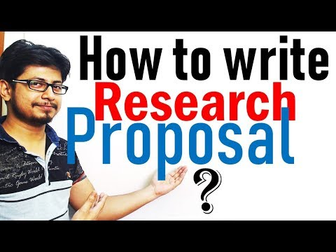 How to write a research Proposal ?