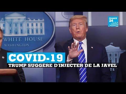 Coronavirus: Quand Trump suggère une injection de javel