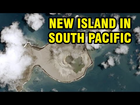New island forms in South Pacific near Tonga