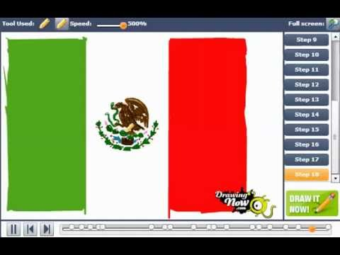 How To Draw The Mexican Flag Youtube