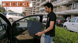 Autofact Half Z Black Fix Type Sunshades / Curtains for Cars