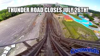 Thunder Road Wooden Roller Coaster POV Carowinds Closing 2015