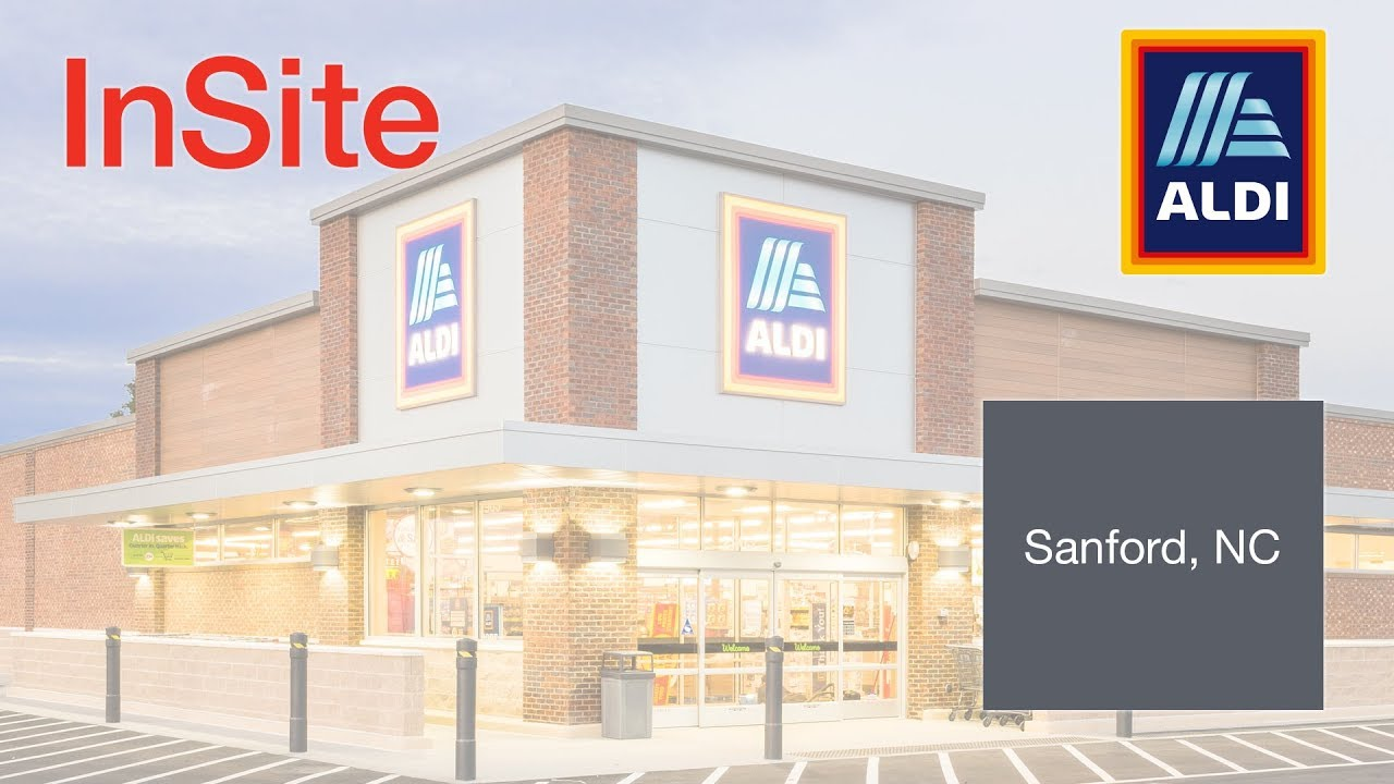 InSite Real Estate | ALDI Retail Build-to-Suit - Sanford, NC - YouTube
